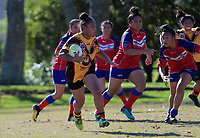 Action from the Auckland Rugby League Girls Pilot under-15 match between Otara Scorpions and Manurewa Kotiro Toa at Ngati Otara Park in Auckland, New Zealand on Saturday, 9 June 2018. Photo: Dave Lintott / lintottphoto.co.nz