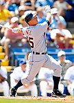 13 March 2007: Detroit Tigers infielder Brandon Inge in the action against the Los Angeles Dodgers at Holman Stadium in Vero Beach, Florida.<br /> <br /> Mandatory Photo Credit: Ed Wolfstein Photo