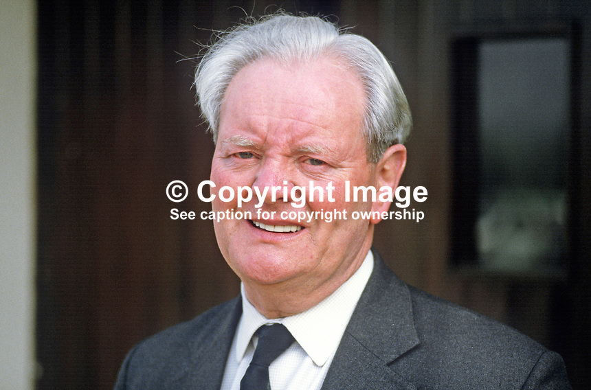 Cecil Harvey, prominent member, Democratic Unionist Party, N Ireland, previously with Ulster Unionist Party, 19840061CH.<br /> <br /> Copyright Image from Victor Patterson,<br /> 54 Dorchester Park, Belfast, UK, BT9 6RJ<br /> <br /> t: +44 28 90661296<br /> m: +44 7802 353836<br /> e1: victorpatterson@me.com<br /> e2: victorpatterson@gmail.com<br /> <br /> For my Terms and Conditions of Use go to<br /> www.victorpatterson.com