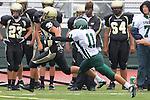 Torrance, CA 10/05/11 - Shane Scott (Peninsula #18) in action during the Peninsula vs South Torrance Junior Varsity football game.