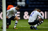 Preston North End's Alan Browne and Darnell Fisher react to the final whistle<br /> <br /> Photographer Alex Dodd/CameraSport<br /> <br /> The EFL Sky Bet Championship - Preston North End v Nottingham Forest - Saturday 16th February 2019 - Deepdale Stadium - Preston<br /> <br /> World Copyright © 2019 CameraSport. All rights reserved. 43 Linden Ave. Countesthorpe. Leicester. England. LE8 5PG - Tel: +44 (0) 116 277 4147 - admin@camerasport.com - www.camerasport.com