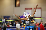 NAPERVILLE, IL - MARCH 11: Christian Ferguson of UW-Stevens Point competes in the high jump during the Division III Men's and Women's Indoor Track and Field Championship held at the Res/Rec Center on the North Central College campus on March 11, 2017 in Naperville, Illinois. (Photo by Steve Woltmann/NCAA Photos via Getty Images)