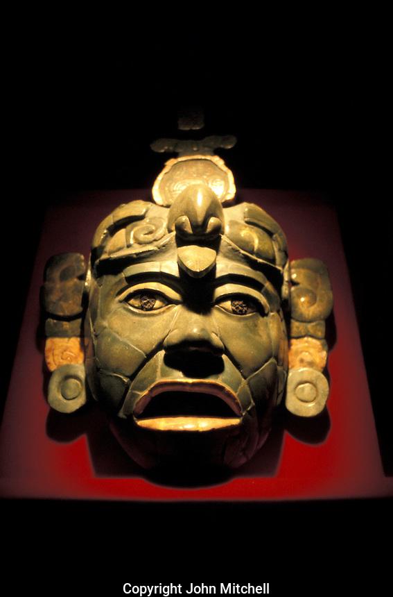 Mayan jade mask from Tikal, National museum of Archaeology, Guatemala City