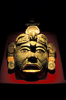 Mayan jade mask from Tikal, National museum of Archaeology, Guatemala City