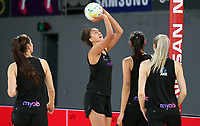 22.09.2018 Silver Ferns Aliyah Dunn in action during Silver Ferns training in Melbourne. Mandatory Photo Credit ©Michael Bradley.