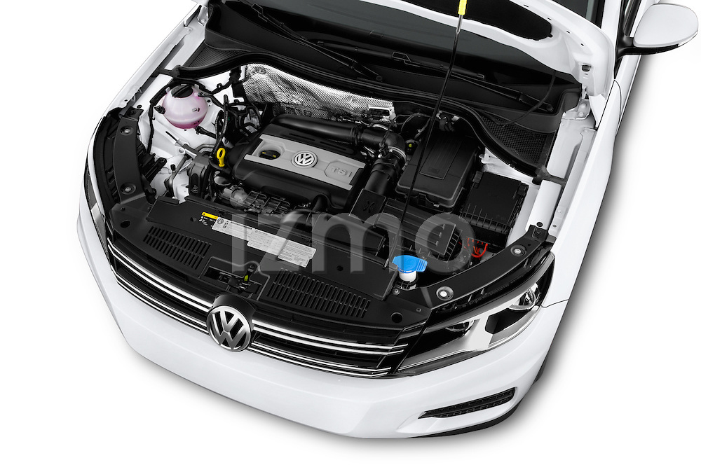 Car Stock 2017 Volkswagen Tiguan S-4Motion 5 Door SUV Engine  high angle detail view