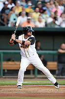 Jacksonville Suns outfielder Brady Shoemaker (20) at bat during game three of the Southern League Championship Series against the Chattanooga Lookouts on September 12, 2014 at Bragan Field in Jacksonville, Florida.  Jacksonville defeated Chattanooga 6-1 to sweep three games to none.  (Mike Janes/Four Seam Images)