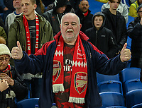 Arsenal fan<br /> <br /> Photographer David Horton/CameraSport<br /> <br /> The Premier League - Brighton and Hove Albion v Arsenal - Wednesday 26th December 2018 - The Amex Stadium - Brighton<br /> <br /> World Copyright © 2018 CameraSport. All rights reserved. 43 Linden Ave. Countesthorpe. Leicester. England. LE8 5PG - Tel: +44 (0) 116 277 4147 - admin@camerasport.com - www.camerasport.com