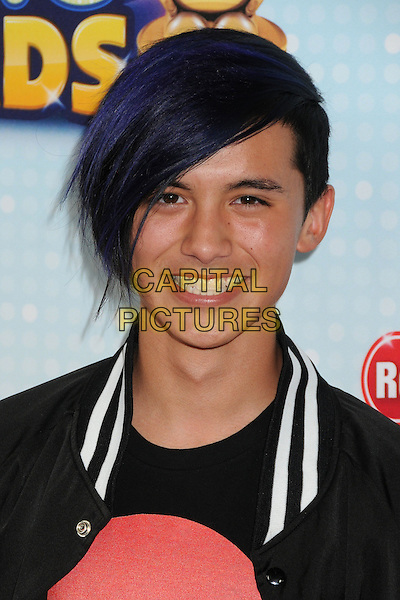 Cole Plante.At the Radio Disney Music Awards 2013 held at Nokia Theatre LA Live, Los Angeles, California, USA, .27th April 2013..portrait headshot purple dyed hair smiling .CAP/ADM/BP.©Byron Purvis/AdMedia/Capital Pictures