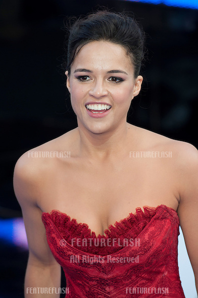 Michelle Radriguez arriving for the 'Fast And Furious 6' Premiere, at Empire Leicester Square, London. 07/05/2013 Picture by: Simon Burchell / Featureflash