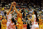 Catalunya vs Montenegro: 83-57.<br /> Milica Jovanovic vs Georgina Bahi.