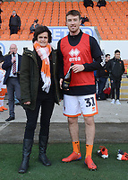 Blackpool's Chris Long is presented with an award<br /> <br /> Photographer Kevin Barnes/CameraSport<br /> <br /> The EFL Sky Bet League One - Blackpool v Walsall - Saturday 9th February 2019 - Bloomfield Road - Blackpool<br /> <br /> World Copyright © 2019 CameraSport. All rights reserved. 43 Linden Ave. Countesthorpe. Leicester. England. LE8 5PG - Tel: +44 (0) 116 277 4147 - admin@camerasport.com - www.camerasport.com