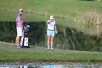 Jacqui Concolina (USA) takes a penalty drop at the 5th green during Thursday's Round 1 of The Evian Championship 2018, held at the Evian Resort Golf Club, Evian-les-Bains, France. 13th September 2018.<br /> Picture: Eoin Clarke | Golffile<br /> <br /> <br /> All photos usage must carry mandatory copyright credit (&copy; Golffile | Eoin Clarke)