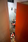 MASSACHUSETTS, Cambridge, Interior of Stata Hall Center on MIT Campus.
