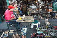 Julio Cesar Cruz Montoya. Hardware store owners in San Juan Pantitlán, Nezahualcoyotl, DF,  Mexico