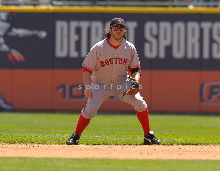 Mark Bellhorn of the Boston Red Sox in action against the Seattle Mariners...Red Sox win 2-1..Chris Bernacchi / SportPics