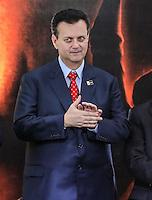 SAO PAULO, SP, 20 FEVEREIRO 2013 -  10 ANOS DO PARTIDO DOS TRABALHADORES GOVERNO FEDERAL NO PODER -  O ex prefeito de Sao Paulo Gilberto Kassab (PSB) durante a festa do Partido dos Trabalhadores (PT) para celebrar 33 anos do partido e dez anos no comando do Governo Federal, no Holiday Inn Parque Anhembi, na zona norte de São Paulo, nesta quarta-feira, 20. FOTO: WILLIAM VOLCOV / BRAZIL PHOTO PRESS