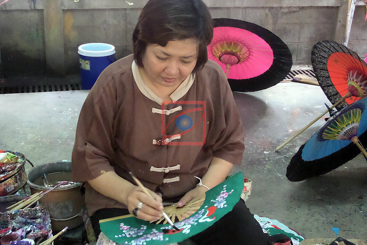 Thailand Tour.<br /> Chiang Mai Umbrella Factory.