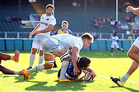Craig Duncan of Bath United scores a try in the first half. Aviva A-League match, between Bath United and Saracens Storm on September 1, 2017 at the Recreation Ground in Bath, England. Photo by: Patrick Khachfe / Onside Images