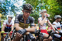 Sven Nys (BEL/Crelan-AAdrinks) concentrated at the start<br /> <br /> GP Neerpelt 2014