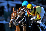 29 August 10: Rachel Alexandra and Life At Ten duel early in the Personal Ensign Handicap at Saratoga Race Course in  Saratoga Springs, New York.