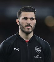 Arsenal's Sead Kolasinac<br /> <br /> Photographer Rob Newell/CameraSport<br /> <br /> Football - UEFA Europa League Round of 16 Leg 2 - Arsenal v Rennes - Thursday 14th March 2019 - The Emirates - London<br />  <br /> World Copyright © 2018 CameraSport. All rights reserved. 43 Linden Ave. Countesthorpe. Leicester. England. LE8 5PG - Tel: +44 (0) 116 277 4147 - admin@camerasport.com - www.camerasport.com