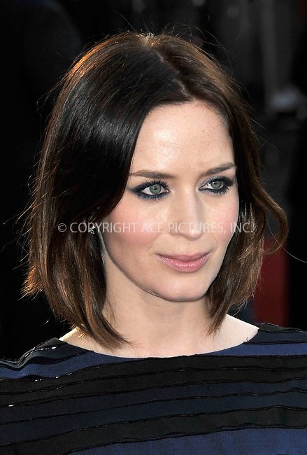 WWW.ACEPIXS.COM . . . . .  ..... . . . . US SALES ONLY . . . . .....April 10 2012, London....Emily Blunt at the European premiere of 'Salmon Fishing in the Yemen' at the Odeon Kensington on April 10 2012 in London....Please byline: FAMOUS-ACE PICTURES... . . . .  ....Ace Pictures, Inc:  ..Tel: (212) 243-8787..e-mail: info@acepixs.com..web: http://www.acepixs.com