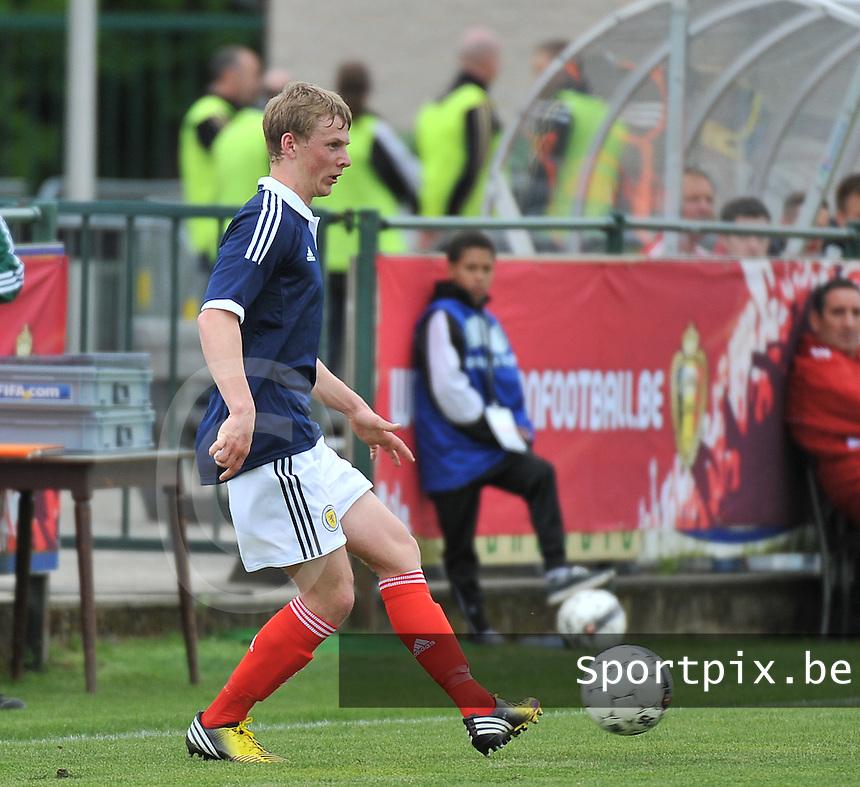 Scotland U19 - Georgia U19 : Stephen Kingsley.foto DAVID CATRY / Nikonpro.be