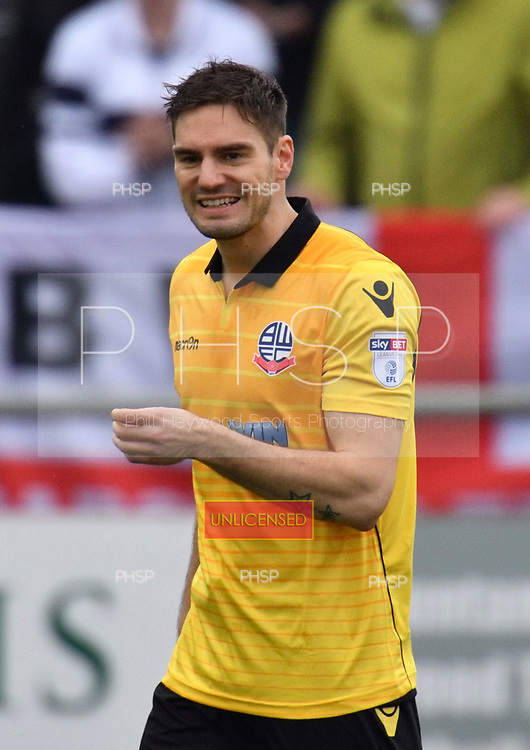 11/03/2017 Sky Bet League 1 Fleetwood Town v Bolton Wanderers<br /> <br /> Dorian Dervite, Bolton Wanderers FC