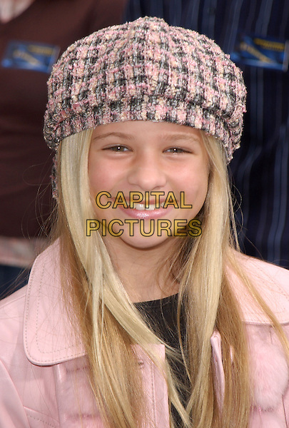 "JENNA BOYD.The Warner Brothers' World Premiere of ""Polar Express"" held at The Graumann's Chinese Theatre in Hollywood, California on .November 7th, 2004.headshot, portrait, pink tweed hat.www.capitalpictures.com.sales@capitalpictures.com.©Debbie Van Story/Capital Pictures"