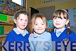 Eimear Cronin, Danielle O'Shea and  Amy McCarthy were enjoying their first days at school in Scoil Mhuire, Raheen.
