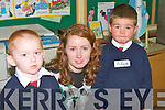 Nathan McAuillfe and Adam Walsh  who spent their first day at Ballinclossig Nation School Ballyduff   on Monday Sep 1st. with their teacher Evelyn O'Connell..   Copyright Kerry's Eye 2008