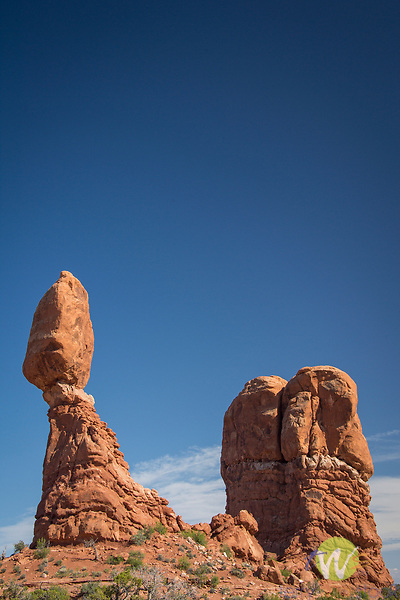Arches National Park. Utah. Balanced Rock. Natural wonder