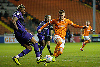 Blackpool's Calum MacDonald battles with Tranmere Rovers' Morgan Ferrier<br /> <br /> Photographer Alex Dodd/CameraSport<br /> <br /> The EFL Sky Bet League One - Blackpool v Tranmere Rovers - Tuesday 10th March 2020 - Bloomfield Road - Blackpool<br /> <br /> World Copyright © 2020 CameraSport. All rights reserved. 43 Linden Ave. Countesthorpe. Leicester. England. LE8 5PG - Tel: +44 (0) 116 277 4147 - admin@camerasport.com - www.camerasport.com