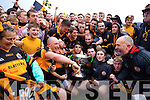 Austin Stacks players celebrate winning the Kerry Senior County Football Final at Fitzgerald Stadium on Sunday.