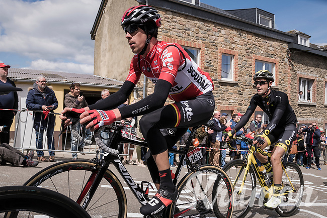 Bart De Clercq (BEL/Lotto-Soudal) in the leading group up C&ocirc;te de Saint-Roch in  Houffalize<br /> <br /> 103rd Li&egrave;ge-Bastogne-Li&egrave;ge 2017 (1.UWT)<br /> One Day Race: Li&egrave;ge &rsaquo; Ans (258km)