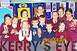 Young scientists with their experiments which they displayed at the St Joesph's  Presentation Convent science exhibition in the school on Thursday front row l-r: Gabriele Wkosiute, Diarmuid Mitchell, Shane O?g McGaley, Katie O'Connor. Back row: Moya Sheehan, Danute Voveryte, Michelle Beazley, Maire O'Connell, Anita McCarthy, Declan McCarthy, Makayla Donovan and Dearbhla Hennessy