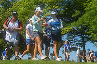Lydia Ko (NZL) and So Yeon Ryu (KOR) share some fruit as they depart the tee on 8 during round 2 of the 2018 KPMG Women's PGA Championship, Kemper Lakes Golf Club, at Kildeer, Illinois, USA. 6/29/2018.<br /> Picture: Golffile | Ken Murray<br /> <br /> All photo usage must carry mandatory copyright credit (© Golffile | Ken Murray)