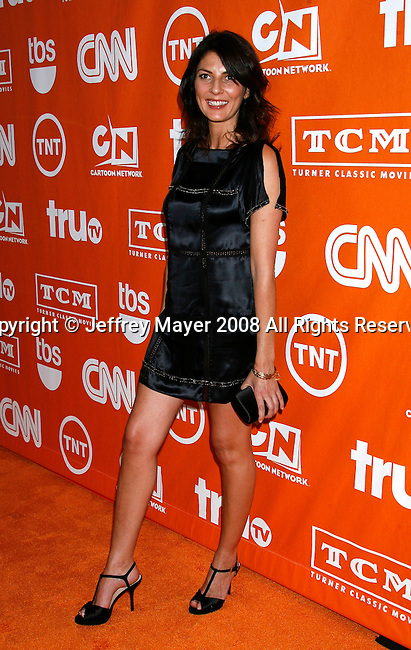 Actress Gina Bellman arrives at the Turner Broadcasting TCA Party at The Oasis Courtyard at The Beverly Hilton Hotel on July 11, 2008 in Beverly Hills, California.