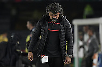 BOGOTÁ -COLOMBIA, 03-12-2016. Leonel Alvarez técnico del Medellín gesticula durante el encuentro de vuelta entre Independiente Santa Fe y Independiente Medellín por los cuartos de final de la Liga Aguila II 2016 jugado en el estadio Nemesio Camacho El Campin de la ciudad de Bogota.  / Leonel Alvarez coach of Medellin gestures during the second legmatch between Independiente Santa Fe and Independiente Medellin for the final quarters of the Liga Aguila II 2016 played at the Nemesio Camacho El Campin Stadium in Bogota city. Photo: VizzorImage/ Gabriel Aponte / Staff