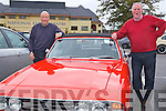 John Stiles and Bob Moffitt with a 1974 Triumph Stag at the Charity Car Run in aid of the Kerry/Cork Health Link Bus at The Brehon last Sunday.