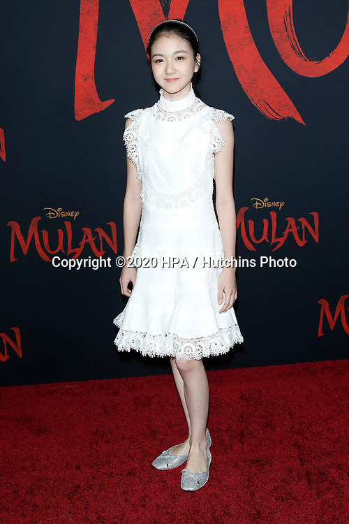 """LOS ANGELES - MAR 9:  Crystal Rao at the """"Mulan"""" Premiere at the Dolby Theater on March 9, 2020 in Los Angeles, CA"""