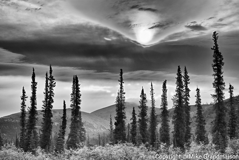 Ogilvie Mountains at km 167 on the Dempster Highway<br /> Dempster Highway<br /> Yukon<br /> Canada<br />