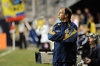Los Angeles Galaxy head coach Bruce Arena. The Los Angeles Galaxy defeated the Philadelphia Union  1-0 during a Major League Soccer (MLS) match at PPL Park in Chester, PA, on October 07, 2010.