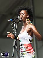 Nayo Jones performing on Day 2 of the 2014 New Orleans Jazz and Heritage Festival.