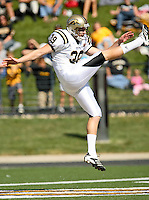 Western Michigan Broncos punter Jim Laney punts during the second half against MU at Memorial Stadium in Columbia, Missouri on September 15, 2007. The Tigers won 52-24.