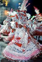 Dancer taking part in traditional Rio Carnival in Rio de Janeiro, Brazil