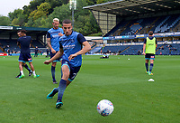 Nick Freeman of Wycombe Wanderers warming up before the Carabao Cup match between Wycombe Wanderers and Fulham at Adams Park, High Wycombe, England on 8 August 2017. Photo by Alan  Stanford / PRiME Media Images.