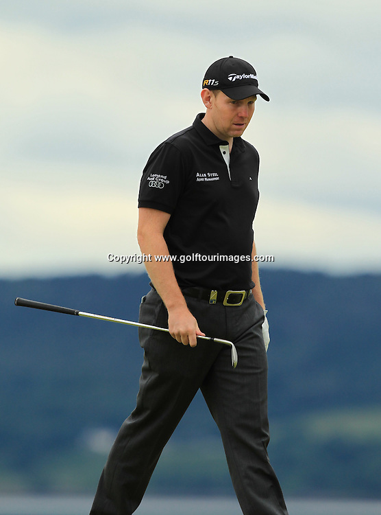 Stephen Gallacher during the 2012 Aberdeen Asset Management Scottish Open being played over the links at Castle Stuart, Inverness, Scotland from 12th to 14th July 2012:  Stuart Adams www.golftourimages.com:12th July 2012