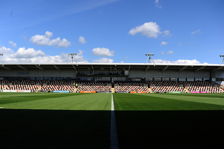 A general view of Rodney Parade home to Dragons <br /> <br /> Photographer Ashley Crowden/CameraSport<br /> <br /> Guinness Pro14 Round 1 - Dragons v Leinster Rugby - Saturday 2nd September 2017 - Rodney Parade - Newport, Wales<br /> <br /> World Copyright &copy; 2017 CameraSport. All rights reserved. 43 Linden Ave. Countesthorpe. Leicester. England. LE8 5PG - Tel: +44 (0) 116 277 4147 - admin@camerasport.com - www.camerasport.com